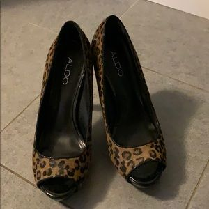 Aldo leopard pumps